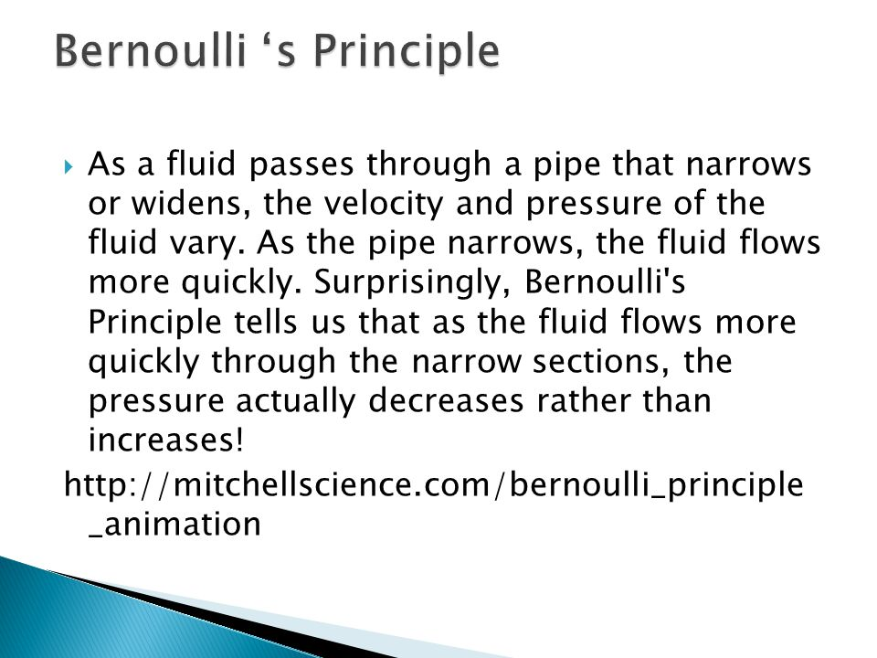 Bernoulli 's Principle