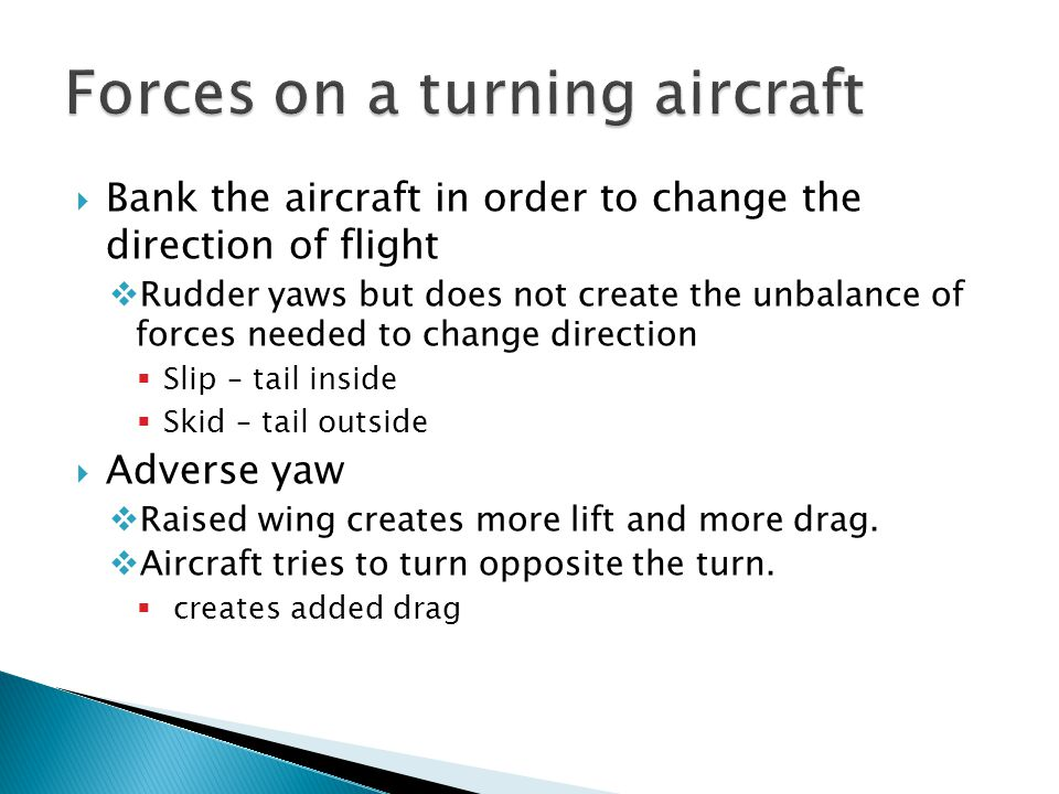 Forces on a turning aircraft