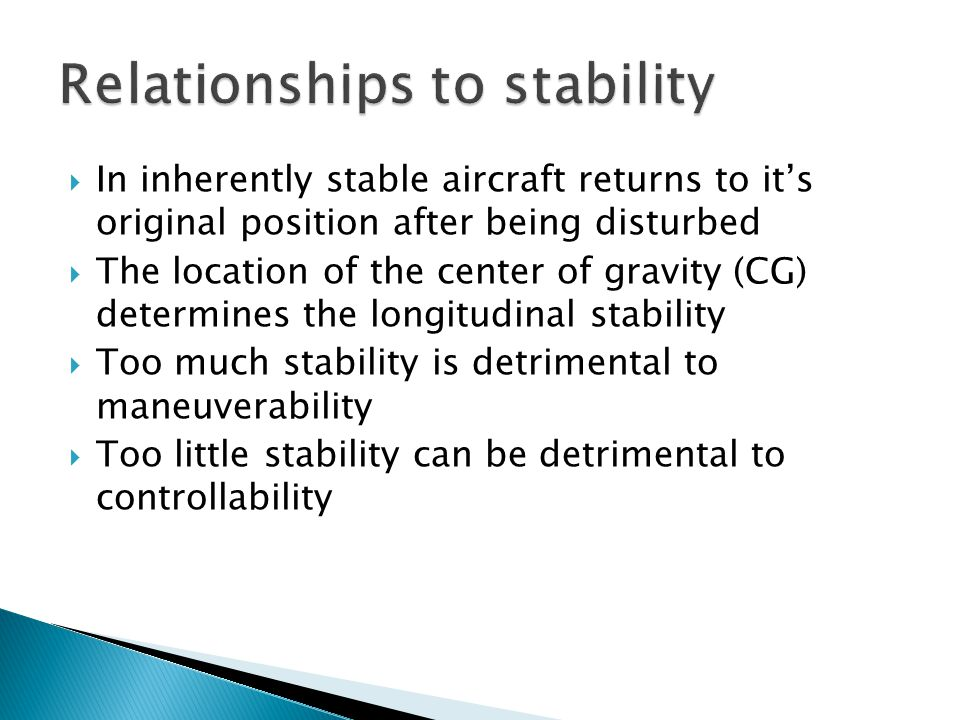 Relationships to stability