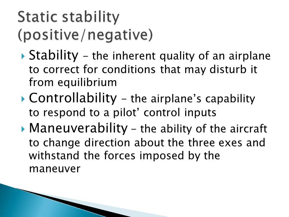 Static stability (positive/negative)