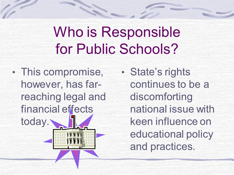 Who is Responsible for Public Schools
