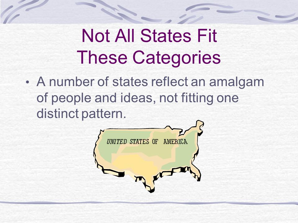 Not All States Fit These Categories