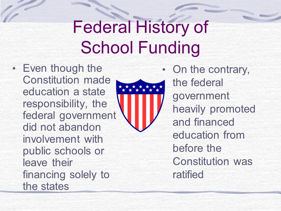 Federal History of School Funding