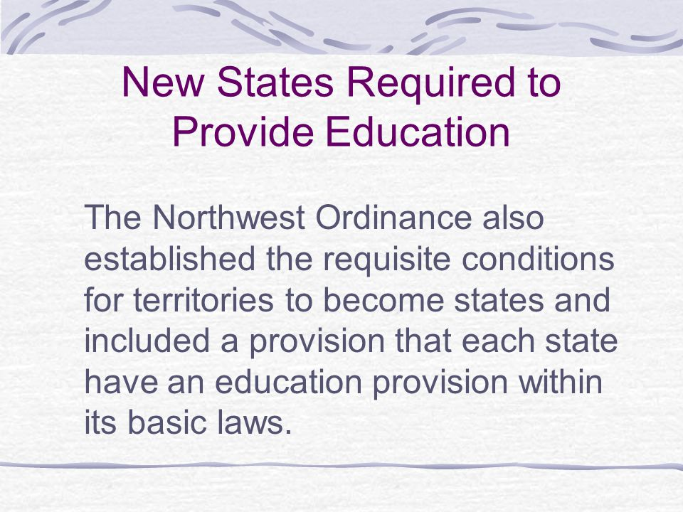 New States Required to Provide Education