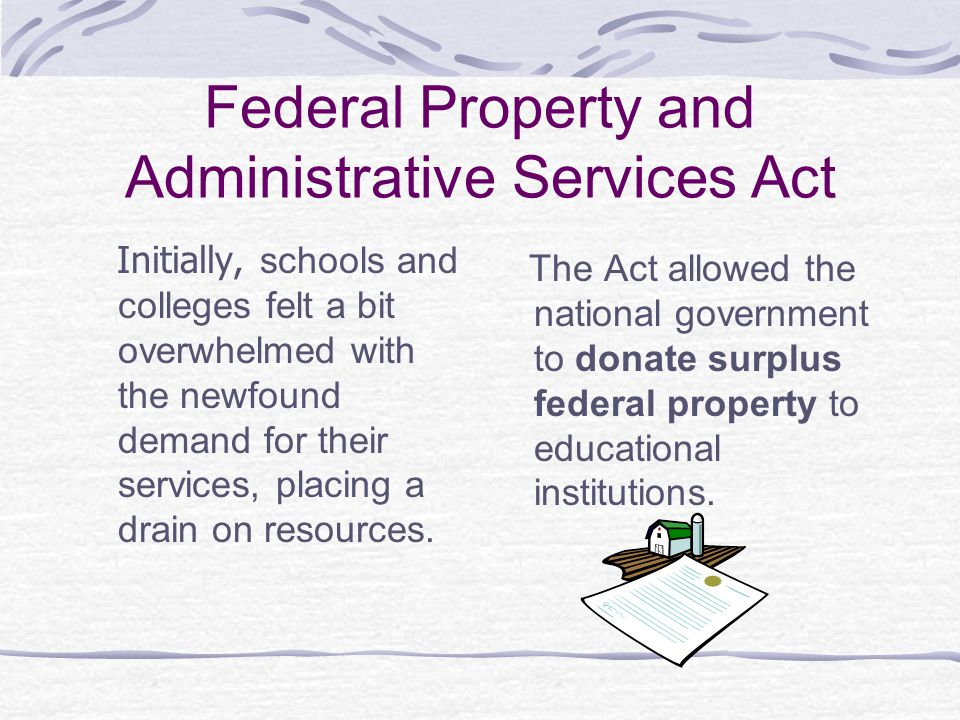 Federal Property and Administrative Services Act