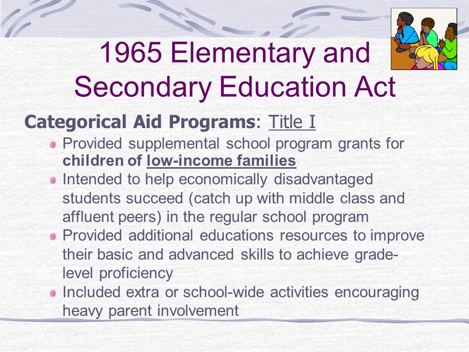 1965 Elementary and Secondary Education Act