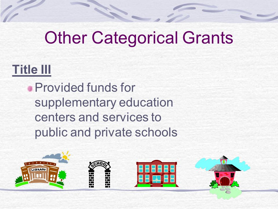 Other Categorical Grants