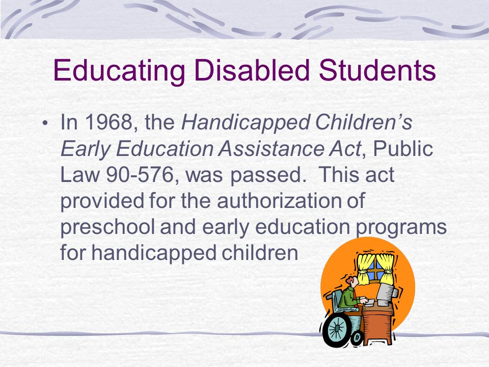Educating Disabled Students