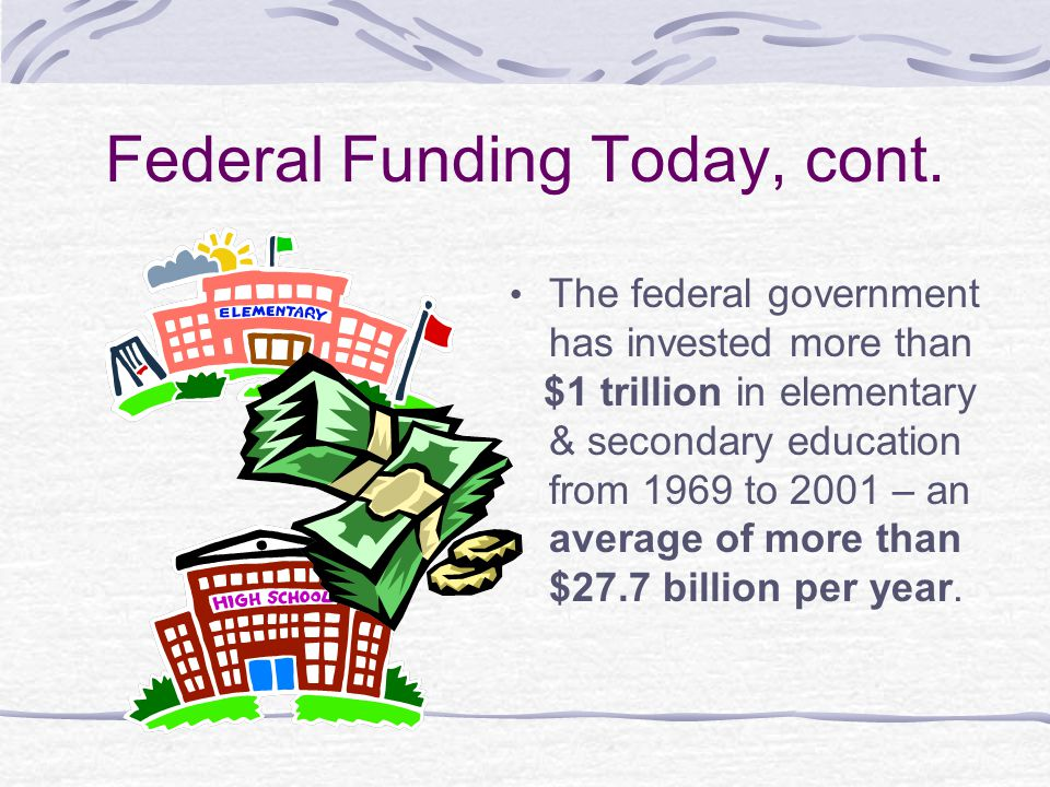 Federal Funding Today, cont.