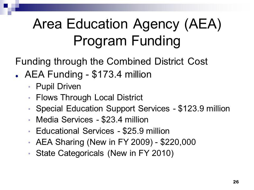 Area Education Agency (AEA) Program Funding