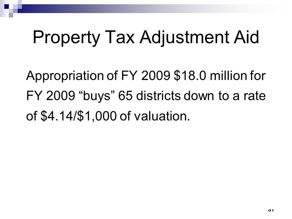 Property Tax Adjustment Aid