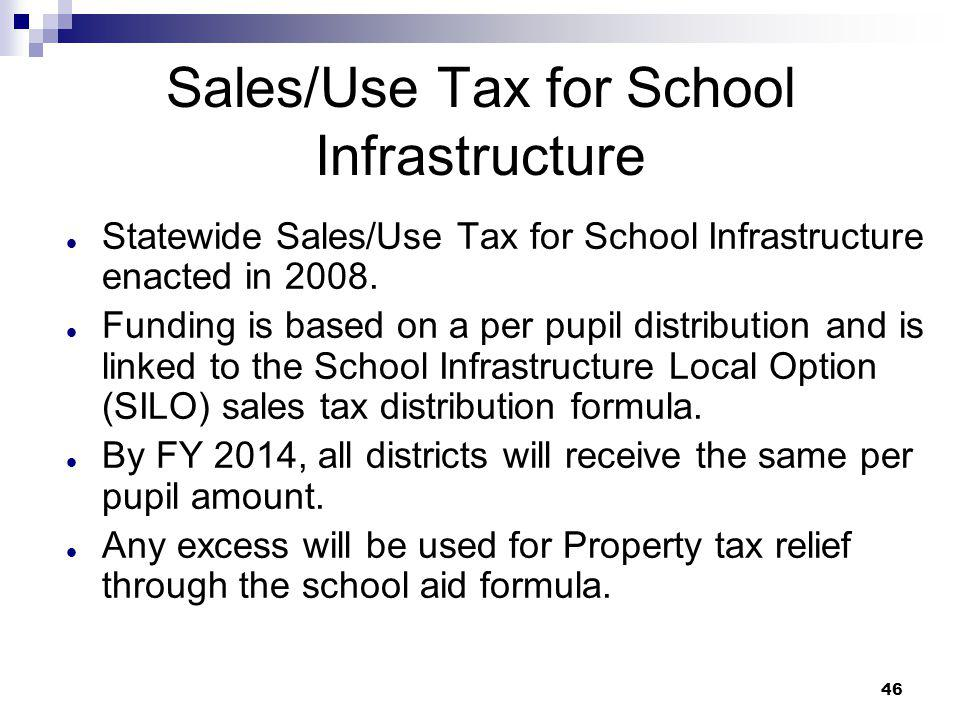 Sales/Use Tax for School Infrastructure