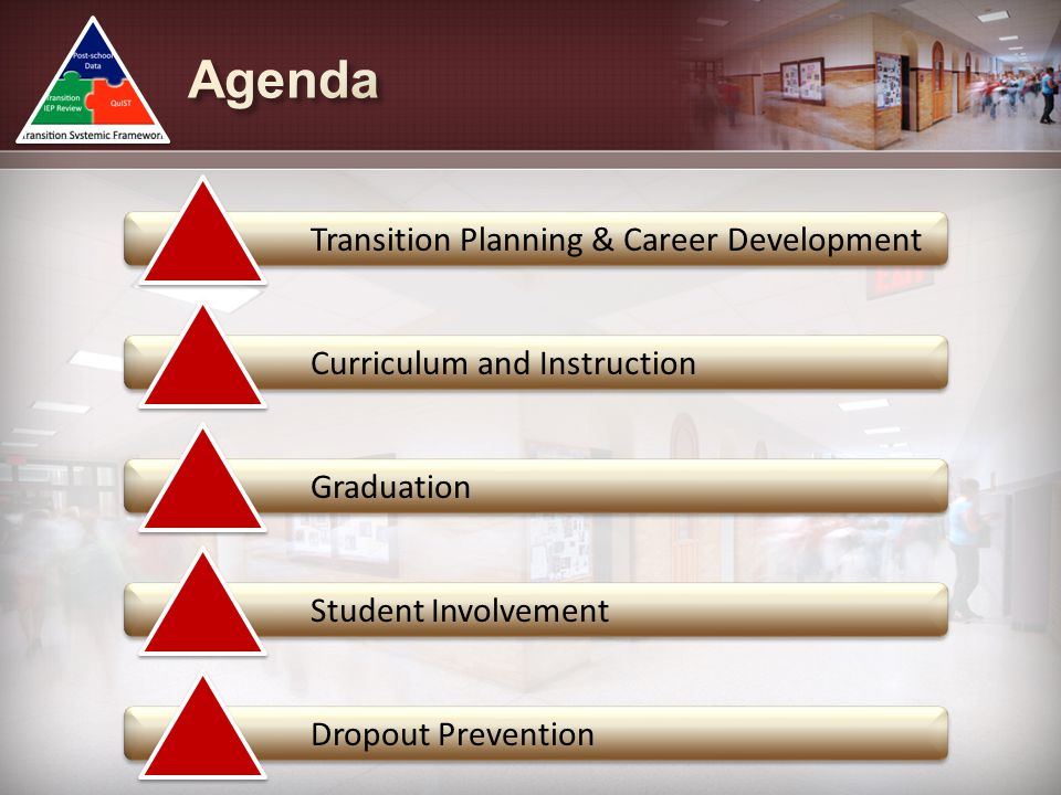 Agenda Transition Planning & Career Development