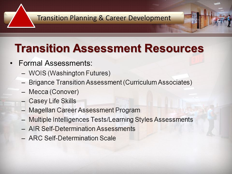 Transition Assessment Resources