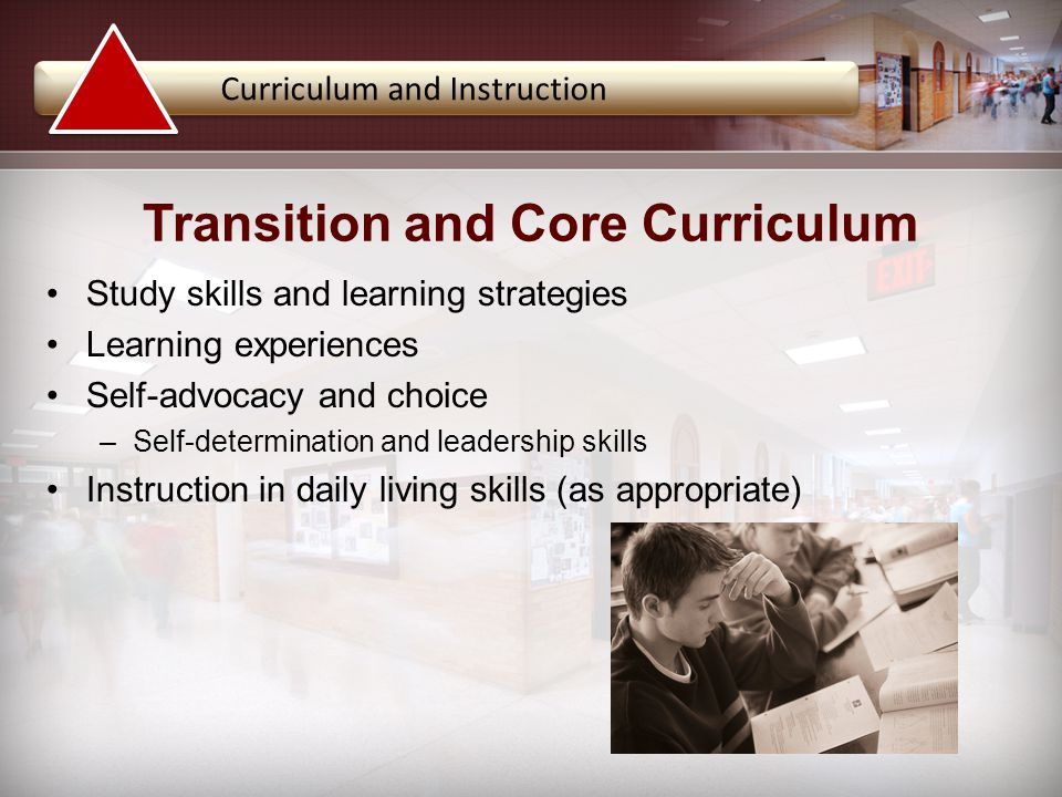 Transition and Core Curriculum