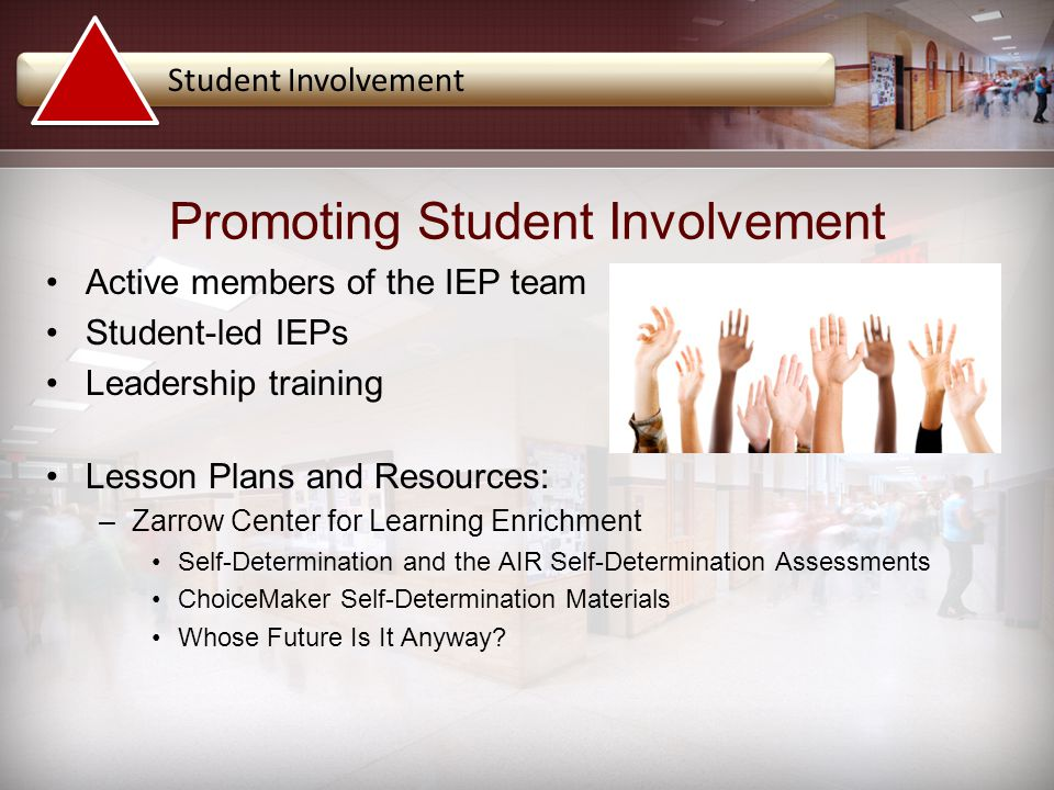 Promoting Student Involvement