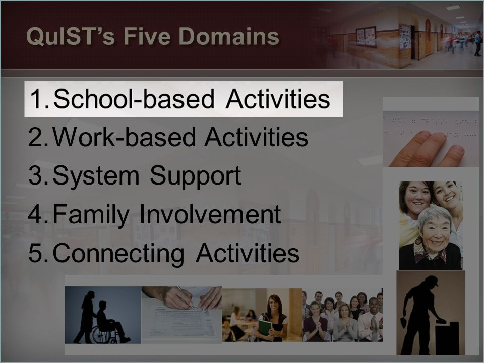 School-based Activities Work-based Activities System Support