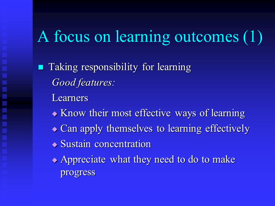 A focus on learning outcomes (1)