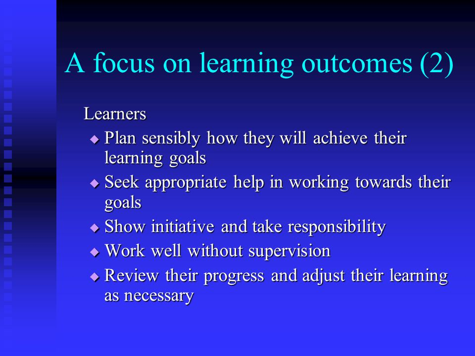 A focus on learning outcomes (2)