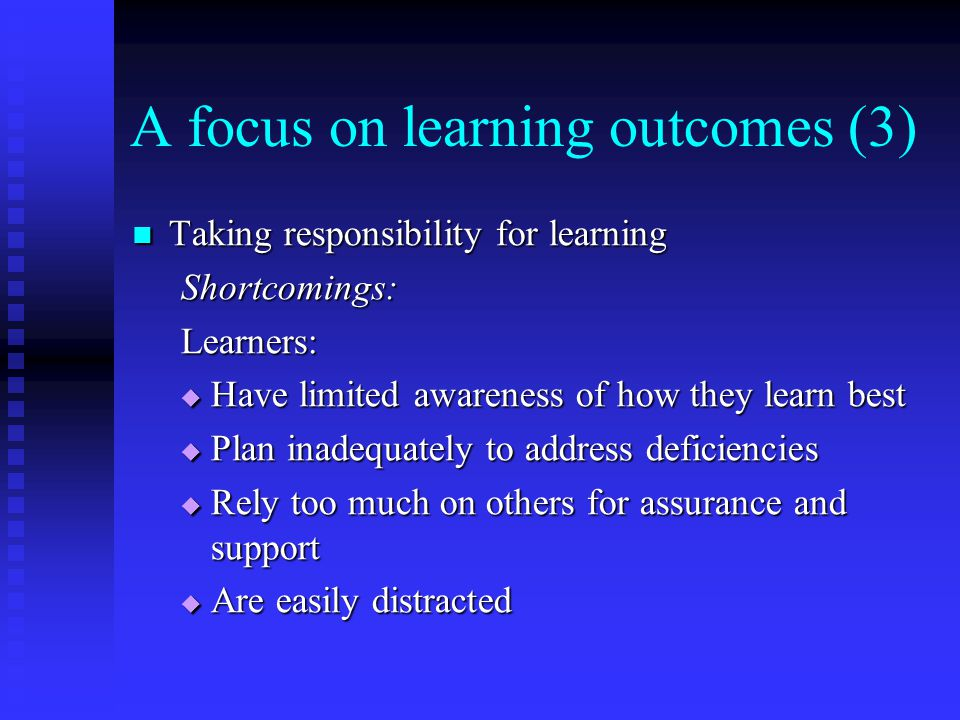 A focus on learning outcomes (3)