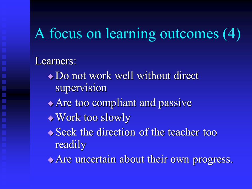 A focus on learning outcomes (4)