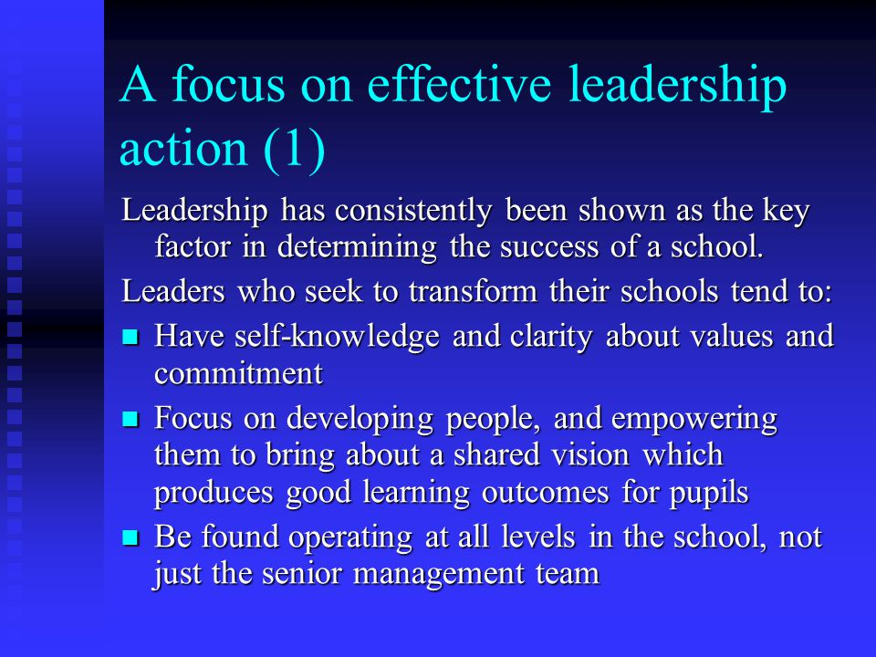 A focus on effective leadership action (1)