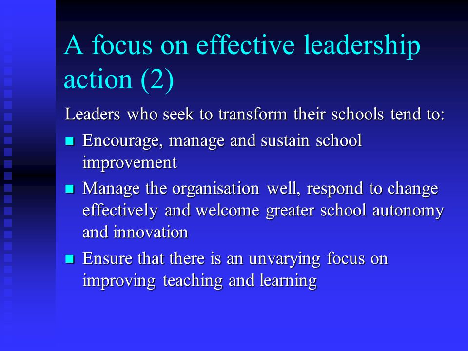 A focus on effective leadership action (2)
