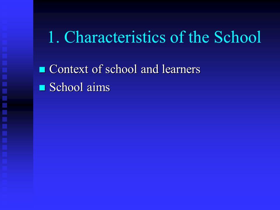1. Characteristics of the School