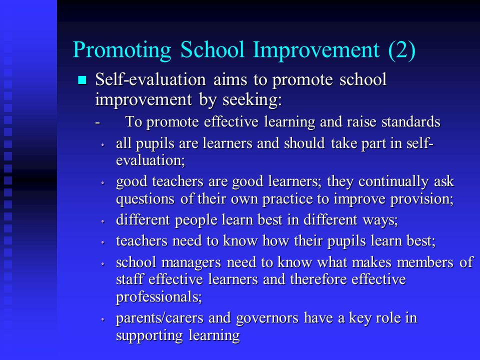 Promoting School Improvement (2)