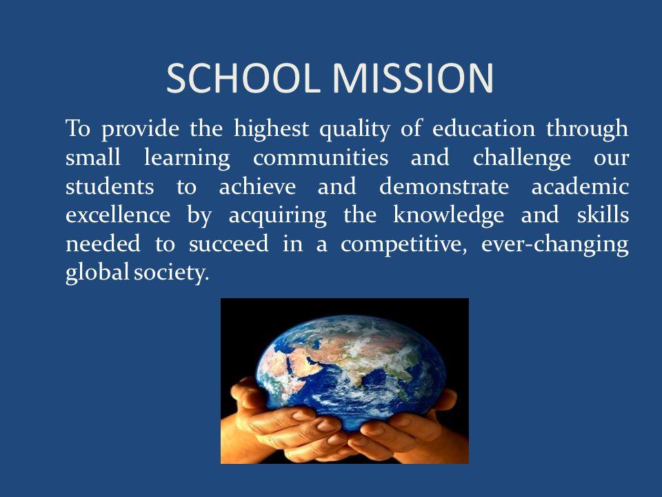 SCHOOL MISSION