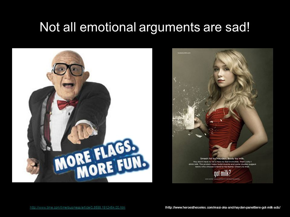 Not all emotional arguments are sad!