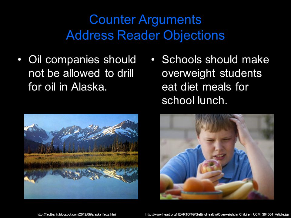 Counter Arguments Address Reader Objections