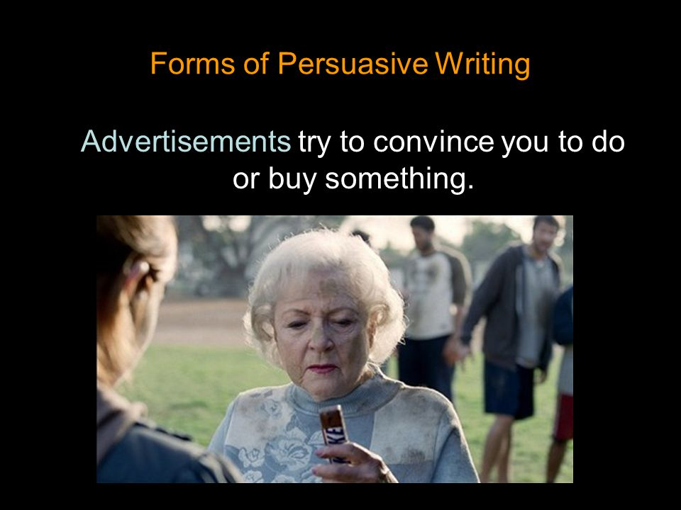 Forms of Persuasive Writing