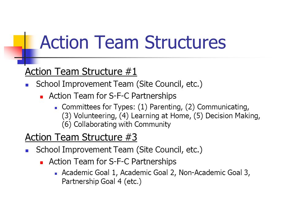 Action Team Structures