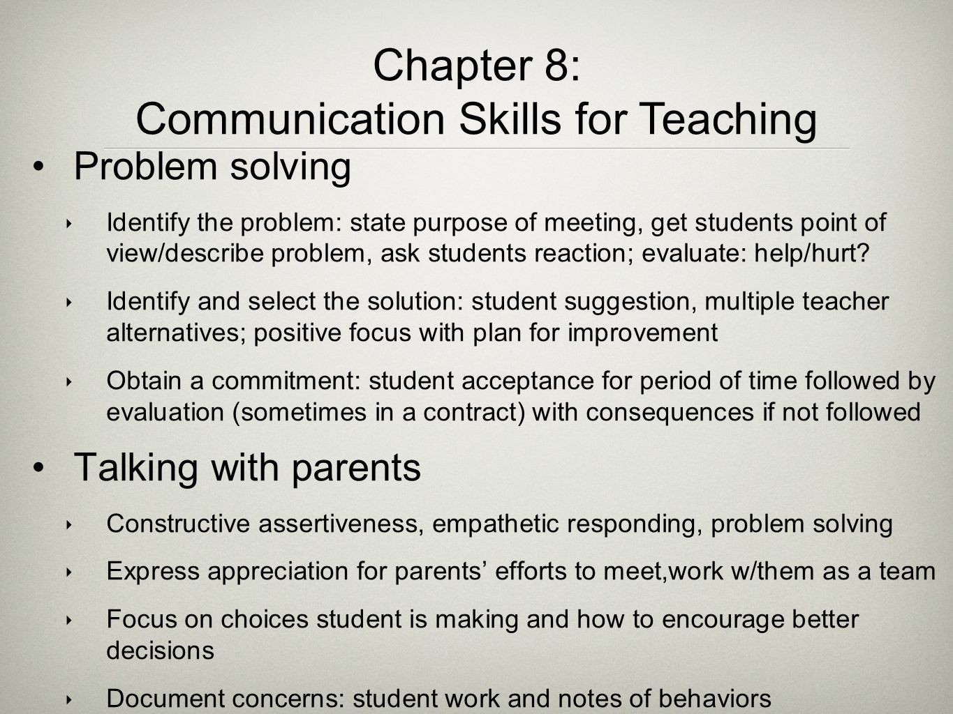 Communication Skills for Teaching