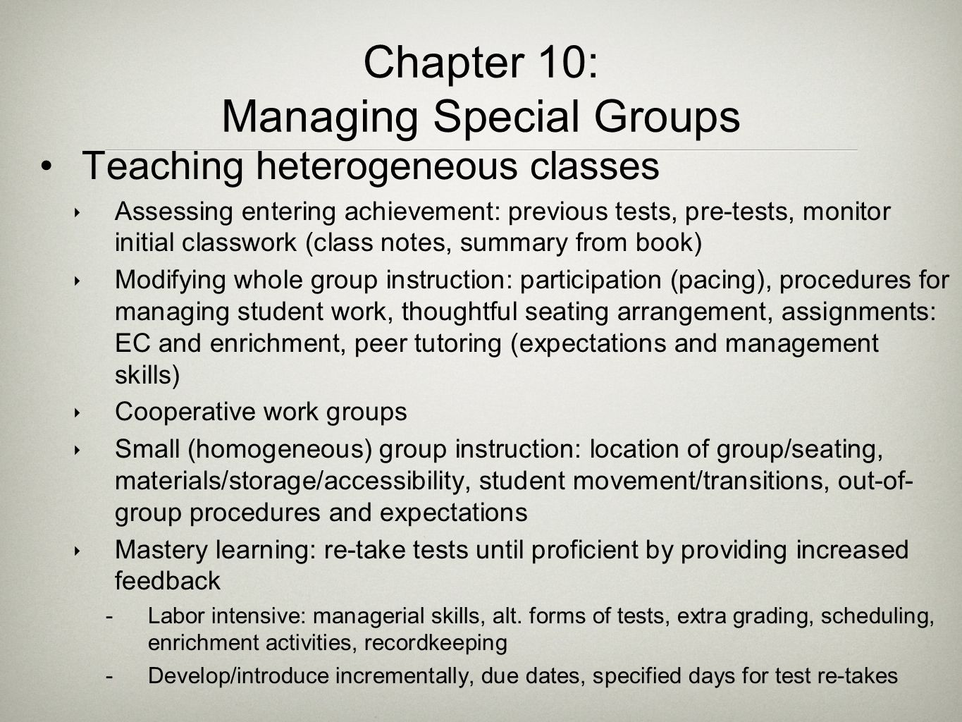Chapter 10: Managing Special Groups
