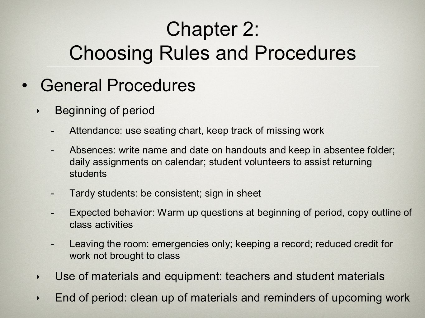 Choosing Rules and Procedures
