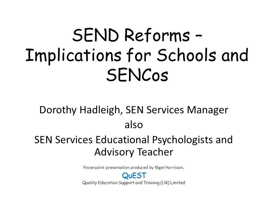 SEND Reforms – Implications for Schools and SENCos