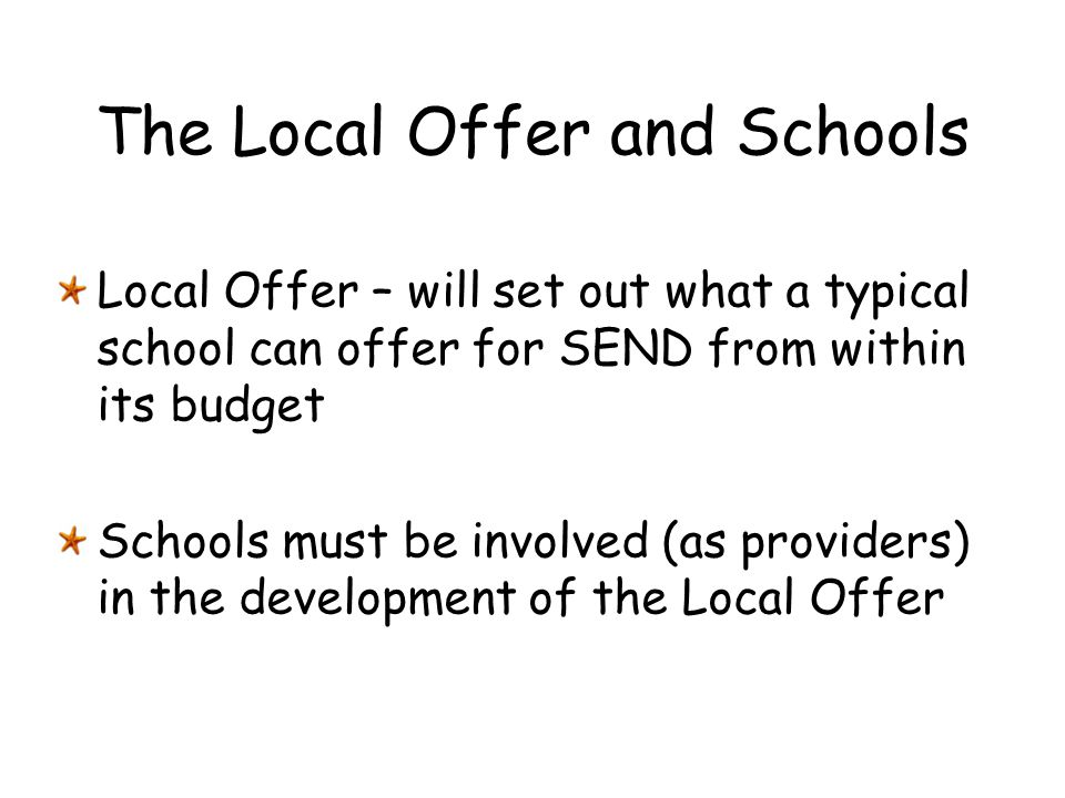 The Local Offer and Schools