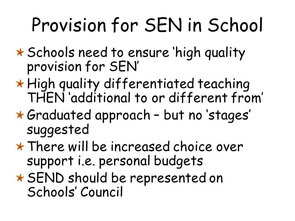 Provision for SEN in School