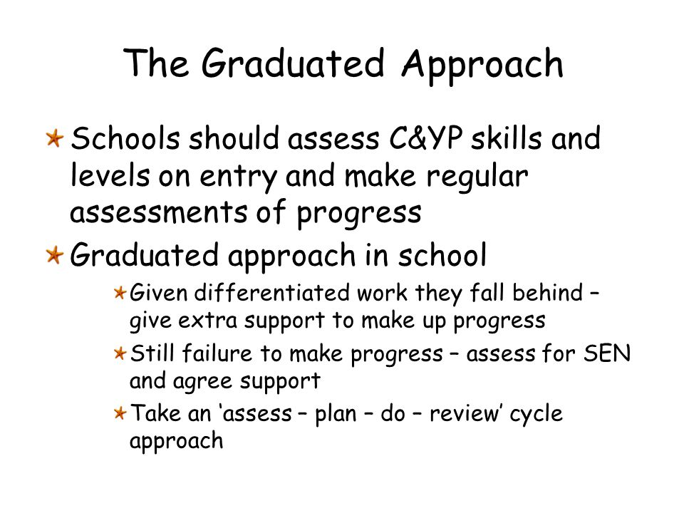 The Graduated Approach