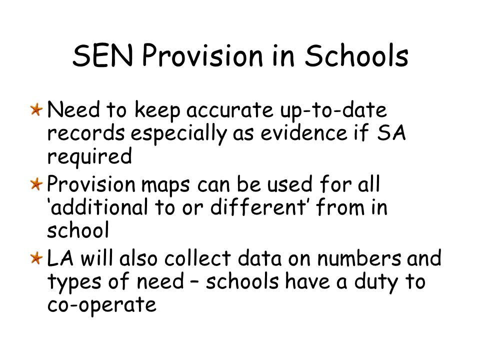 SEN Provision in Schools
