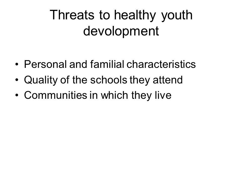 Threats to healthy youth devolopment