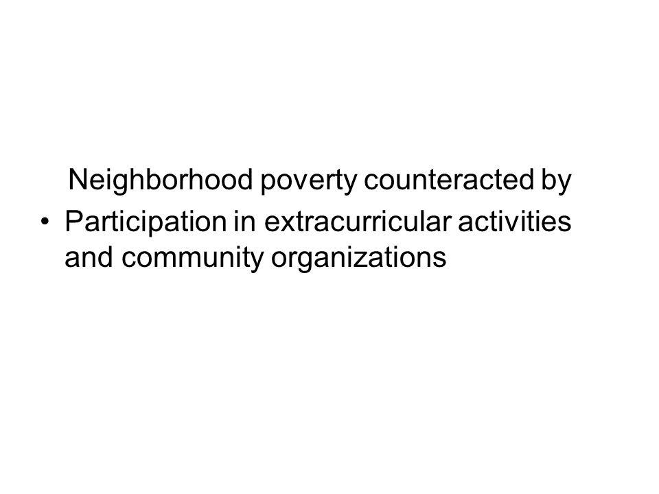 Neighborhood poverty counteracted by
