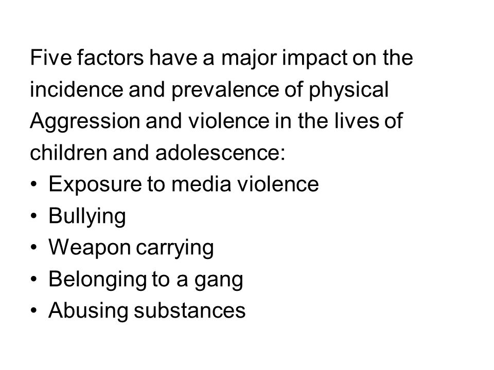 Five factors have a major impact on the