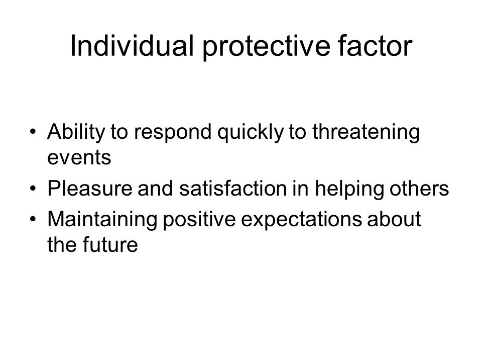 Individual protective factor