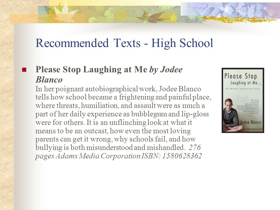 Recommended Texts - High School