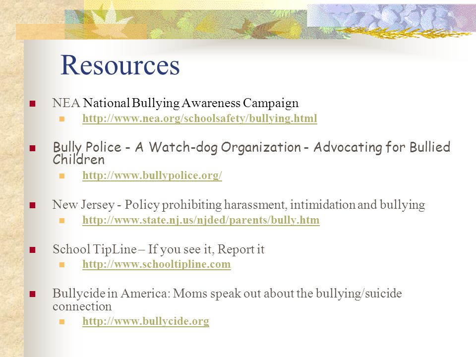 Resources NEA National Bullying Awareness Campaign