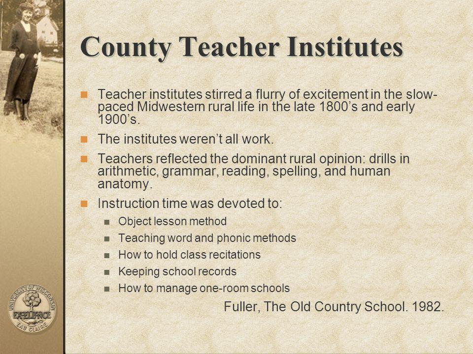 County Teacher Institutes