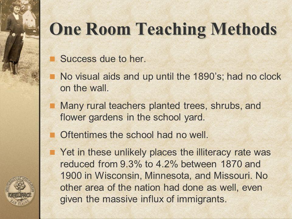 One Room Teaching Methods